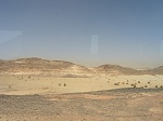 Синайская пустыня вид из автобуса