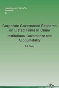 Corporate Governance Research on Listed Firms in China